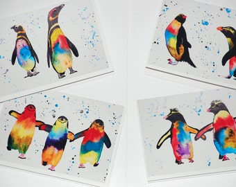 Penguin Cards (set of 4) with envelopes