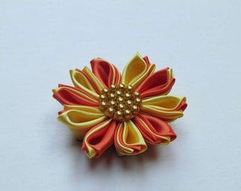 Kanzashi sunflower