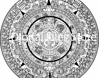 Aztec coloring page  Etsy