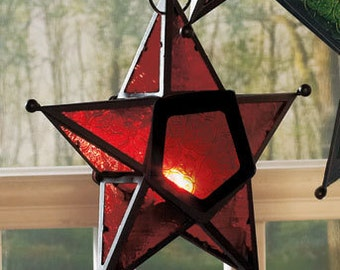 Hanging star candle holders
