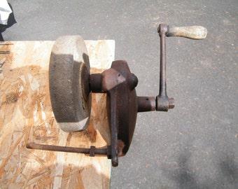 Vtg Bench Grinder - Handcranked - For Sharpening Tools and Knives