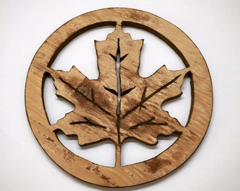Handcrafted Wooden Maple Leaf Art Decor