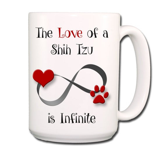 Shih Tzu Infinite Love Large 15 oz Coffee Mug
