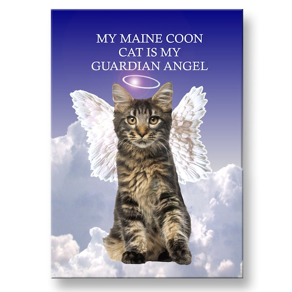 Maine Coon Cat Guardian Angel Fridge Magnet No 3