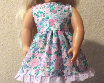 """Sleeveless Handmade Dress for 18"""" or American Girl Doll"""