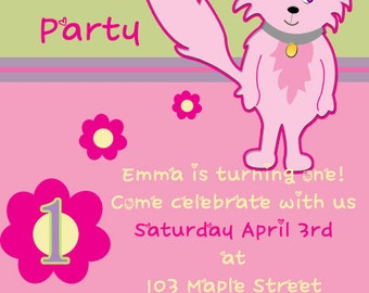 Kitty Birthday Party Invitation