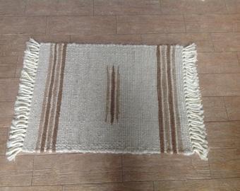 2' by 3' woven alpaca rug