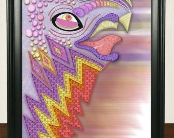 Shape Face Creature Print