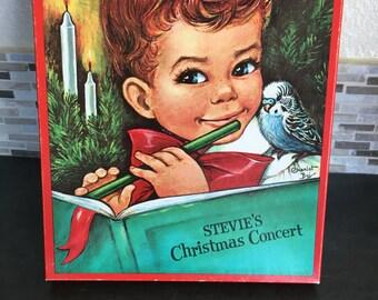 Vintage Pop up Book Stevie's Christmas Concert