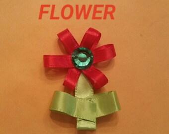 Flower hairbow