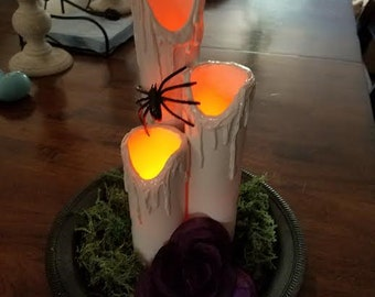 Halloween Candle Centerpiece