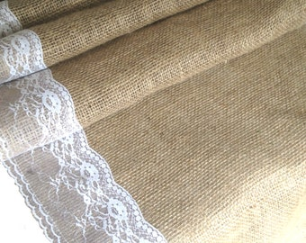 Jute table runner with narrow side