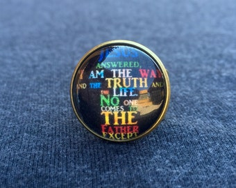 Way Truth and Life  Scripture Adjustable Ring
