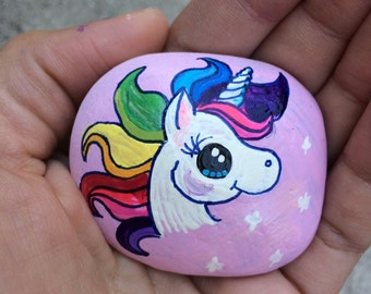 Unicorn Painted Stone