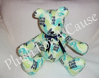 STAMP OUT BULLYING Bear - Stuffed with Love by Plush For A Cause