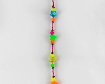 Rainbow Origami Star Suncatcher