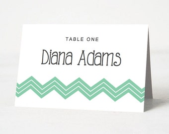 DIY Wedding Place Card Template | INSTANT Download | Beach Themed Place Card Template | Editable & Printable Template