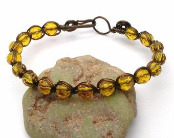 Citrine Bracelet. Yellow bracelet