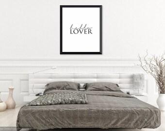 HELLO LOVER - Digital Downloadable - Printable Art - A4