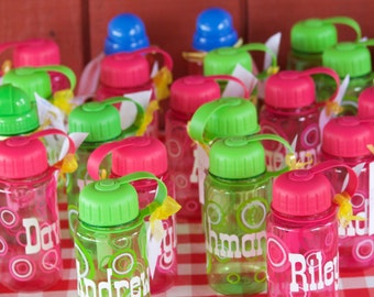 Personalized Water Bottle- Party Favors- Flower girl - Ring bearer
