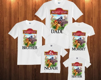 Lion Guard Birthday Long Sleeve and Short Sleeve Shirt, Custom personalized Lion Guard, Lion Guard T-shirts for all family,