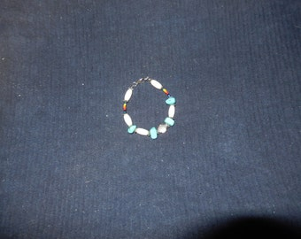 Beaded Deer bone Bracelet