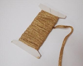 Gold sparkle glitter ribbon 0.5cm