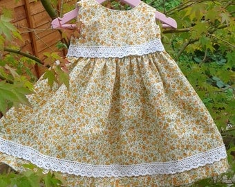 Baby Girl Dress with lacy trim