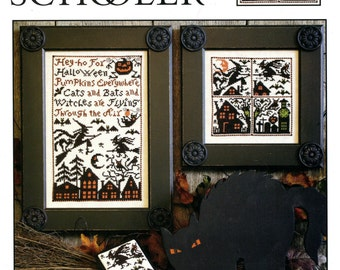 Cats, Bats & Witches by Prairie Schooler Counted Cross Stitch Pattern/Chart