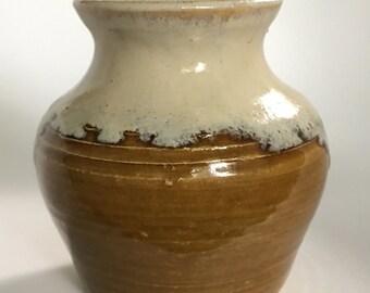 Vintage handmade Ceramic pottery planter vase