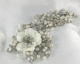 Bridal Pearl and Crystal Headpiece