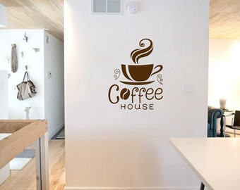 Coffee House Wall Art Decal Mural Sticker