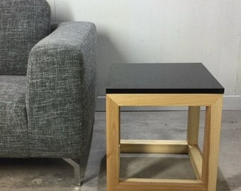 Design end table granite base of wood ash by workshop Bussière shop active