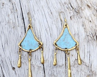 Bronze Earrings - Tahua