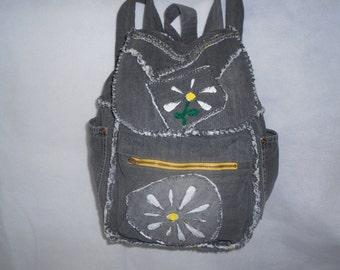 """Denim """"Daisy"""" Backpack"""