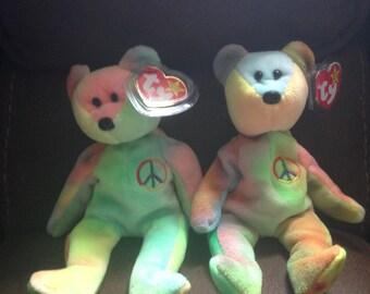 Set of 2 Peace Bear!