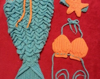 Baby Crocodile Stitch Mermaid Tail