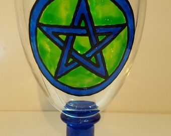 Blue Pentagram Goblet
