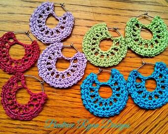 Hand crocheted earrings