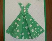 Summer Dance Dress Card Green WG1