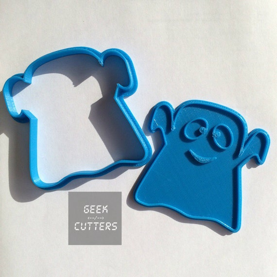 Cute Ghost Cookie Cutter -  Halloween - Fondant, Backing Mold, 3d printed, Cookiecutter