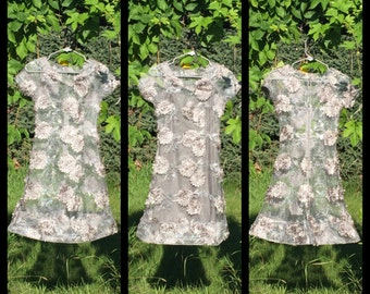 Ladies Grey 2 Piece Floral Fitted Dress