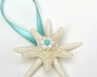 Starfish Ornament, Coastal Christmas Ornament, Beach Christmas, Nautical Christmas Ornament