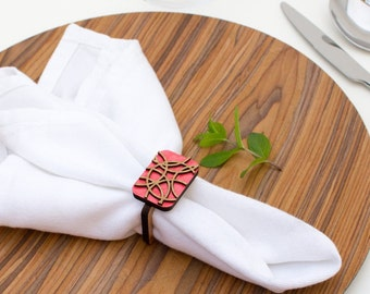 Abstract - Napkin Ring - Wooden