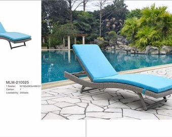 Outdoor Patio Furniture Sun Lounger Blue