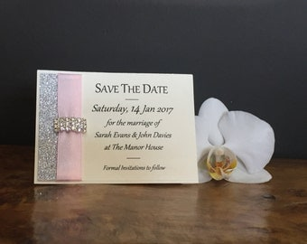 Sparkle Save the Date Card
