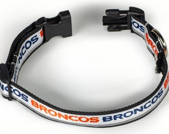 Denver Broncos Reflective Dog Collar