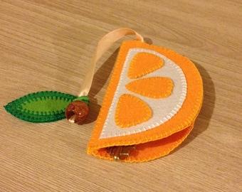 "Handbag for your keys ""Orange"""