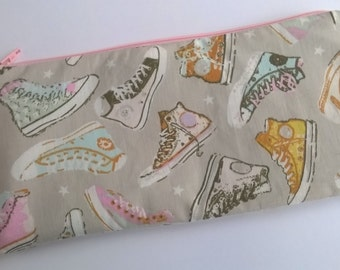 Sneakers/trainers pencil case, accessories pouch