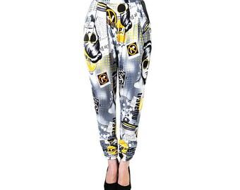 Pop Art Jersey Trousers (Petite)